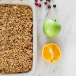 Cranberry Apple Crisp, Gluten free Cranberry Apple Crisp, Juliska Forest Walk Baker