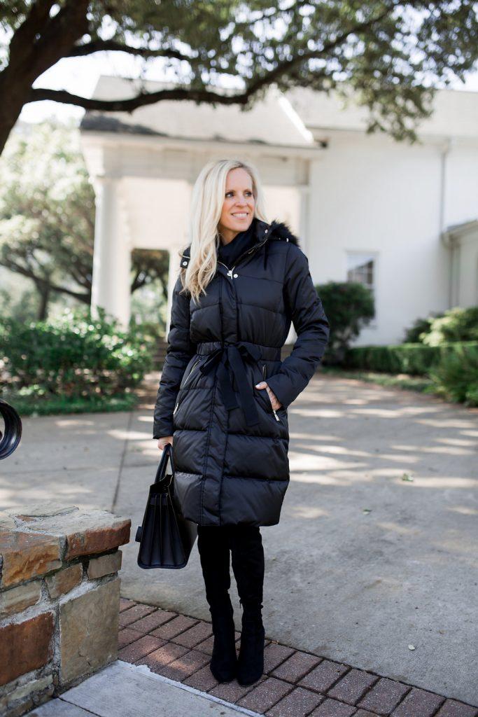 Alicia Wood, Dallas Lifestyle Expert, Dallas Lifestyle Blogger, Dallas Fashion Blogger, Ivanka Trump Long Puffer Coat, Best OTK Boots,