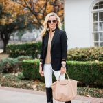 Alicia Wood, Dallas Lifestyle Blogger, Dallas Fashion Blogger, Veronica Beard Blazer, Classic Blazer, Longchamp Le Pliage Cuir