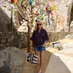 Velvet by Graham and Spencer, JAYLA PRINTED COTTON PINTUCK PEASANT TOP, Mar Y Sol Navy Striped Tote, The Resort at Pedregal, Alicia Wood, Dallas Lifestyle Blogger