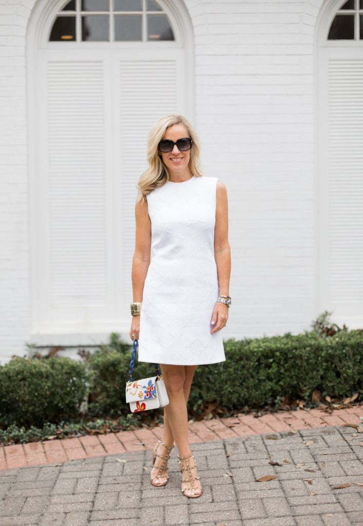 Alicia Wood, Dallas Fashion Blogger, Dallas Lifestyle Blogger, Balenciaga Shift Dress, Clotheshorse Anonymous, Tory Burch Kira Mini Bag, Valentino Rockstud City Sandal
