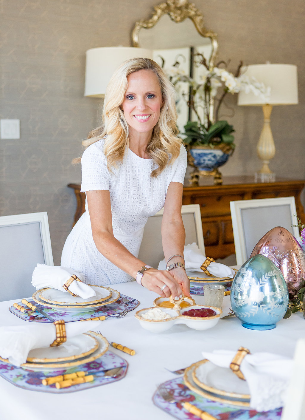 Alicia Wood, Dallas Lifestyle Blogger, Dallas Fashion Blogger, Easter Tablescape, Juliska Classic Bamboo