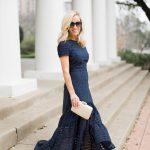 Alicia Wood, Dallas Fashion Blogger, Dallas Lifestyle Blogger, Navy Dress, Spring Dress, Navy Eyelet Dress, Banana Republic Sale