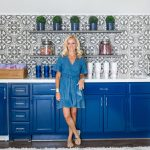 Alicia Wood, Dallas Lifestyle Blogger, Dallas Renovation, Pool House, Cabana, #Wayfair1RoomReno, Cement Tile, Navy Cabinets