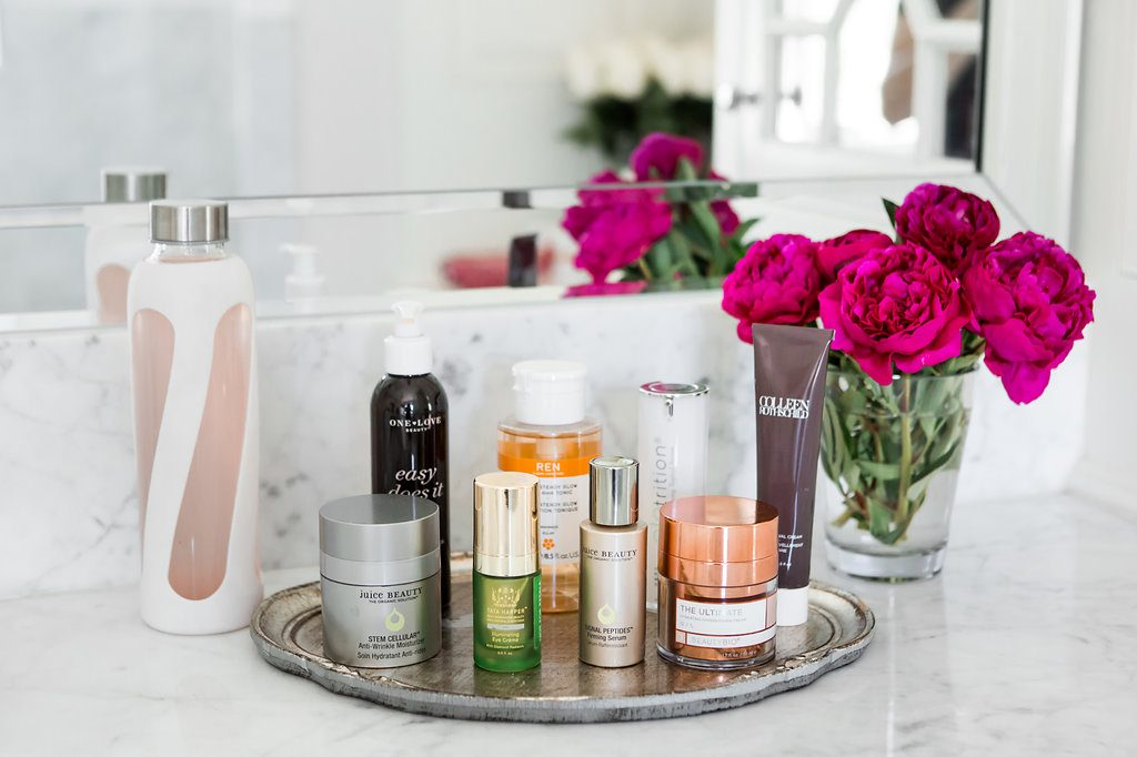 Alicia Wood, Dallas Lifestyle Blogger, Dallas Fashion Blogger, Dallas Beauty Blogger, Clean Beauty Morning Skincare Routine, Best Morning Skincare Routine, Ren Skincare, Colleen Rothschild, Jamie Obanion, Beauty BioScience, One Love Organics, Juice Beauty Anti-Wrinkle Cream, Juice Beauty Signal Peptides Serum
