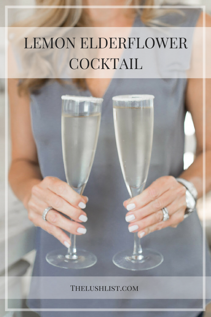 Lemon Elderflower Cocktail | Royal Wedding Cocktail