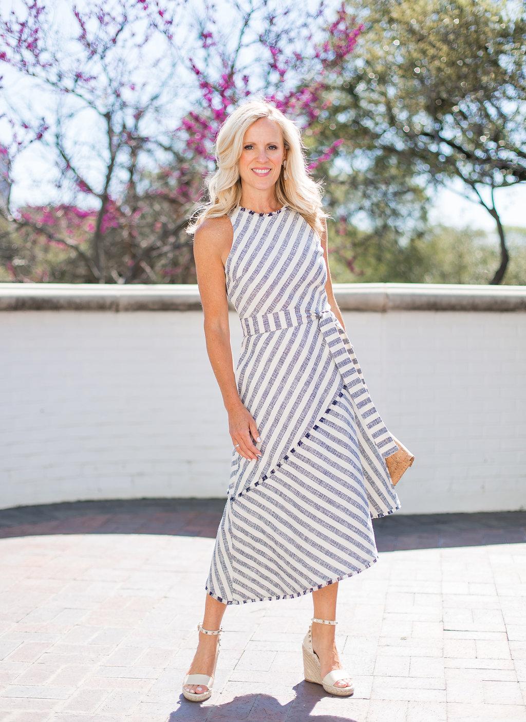 Tweed Striped Dress + New Arrivals