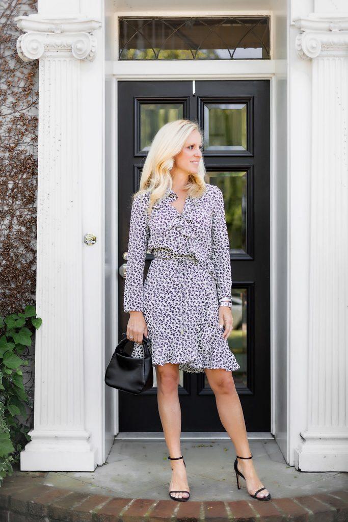 Alicia Wood, Dallas Fashion Blogger, Dallas Lifestyle Expert, Veronica Beard Brisas Dress, Cuyana Mini Bow Bag
