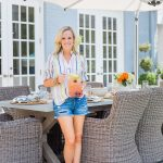 Alicia Wood, Dallas Lifestyle Expert, Dallas Fashion Blogger, Dallas Lifestyle Blogger, Juliska Oceana Dinnerware, Bamboo Flatware, Outdoor entertaining in Dallas, Outdoor Dining Ideas