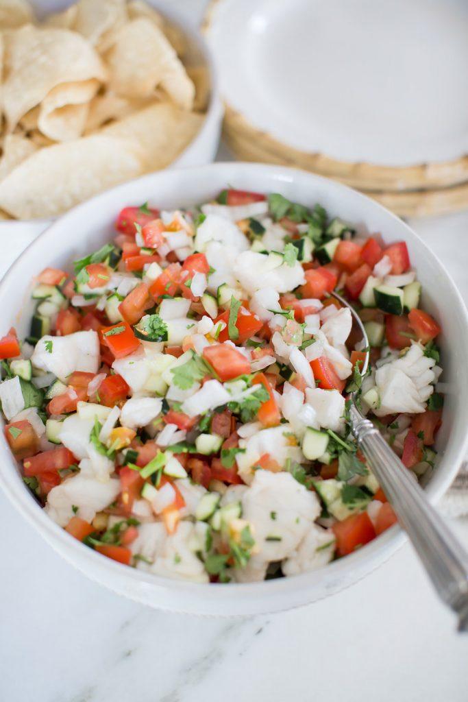 Traditional Ceviche recipe, Mexican White Fish Ceviche, Juliska Classic Bamboo