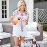 Alicia Wood, Dallas Lifestyle Blogger, Dallas Fashion Blogger, Rosé Sangria Recipe from The Ivy
