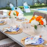 Juliska Oceana Dinnerware, Bamboo Flatware, Outdoor entertaining in Dallas, Outdoor Dining Ideas