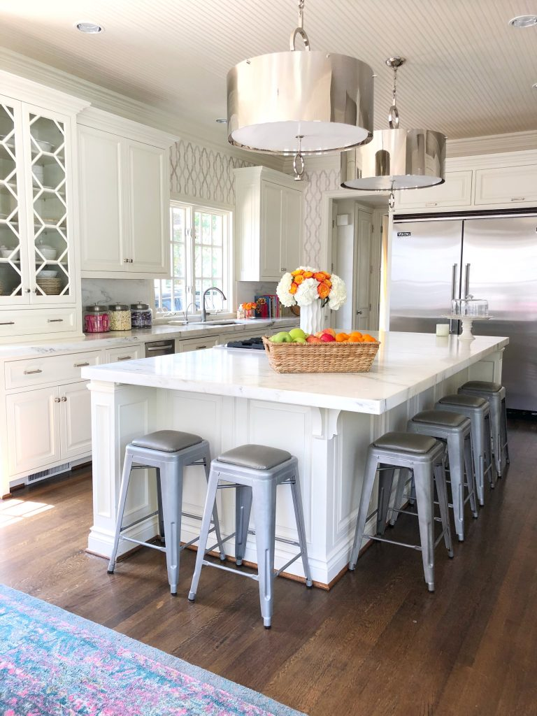 Bright White Summer Kitchen
