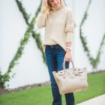 Alicia Wood, Dallas Lifestyle Expert, Dallas Lifestyle Blogger, Dallas Fashion Blogger, Ralph Lauren Ricky Bag, Tan suede Booties, Cozy Sweaters for Fall,