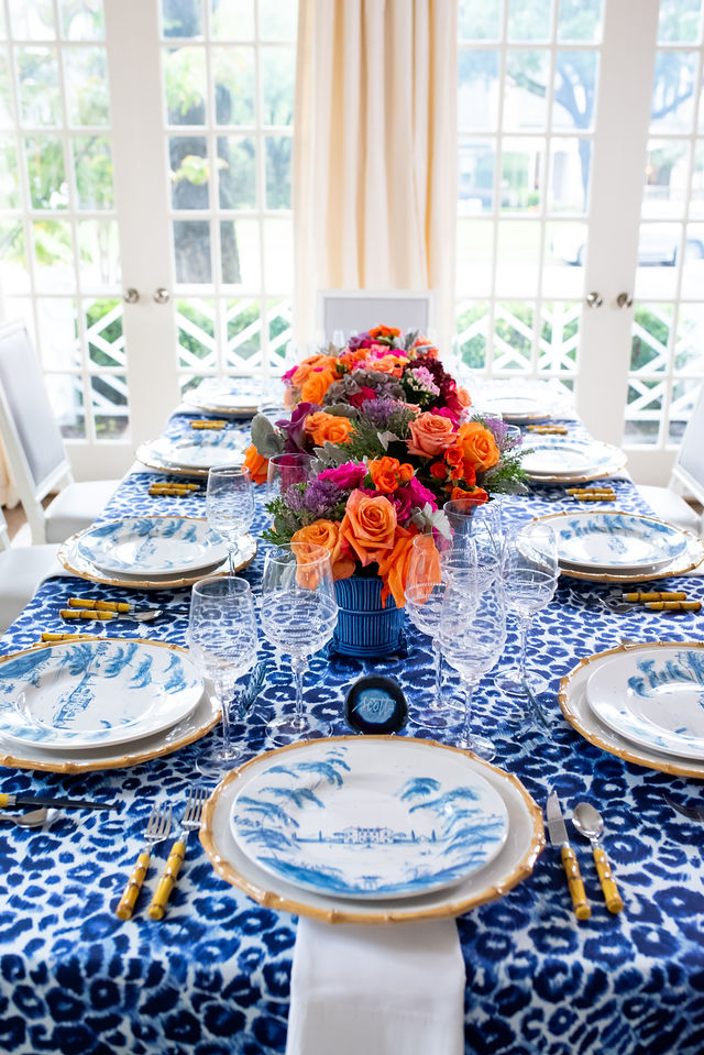 A Blue and White Thanksgiving Tablescape with Juliska Country Estate
