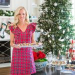 Alicia Wood, Dallas Lifestyle Expert, Dallas Fashion Blogger, Draper James Christmas Dress, Draper James Red Plaid Ruffle Shoulder Dress, How to Host a Holiday Tea
