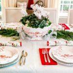 Juliska Centerpiece Bowl, Christmas Centerpiece, Christmas Tablescape, Juliska Winter Frolic, Red and Silver Christmas Tablescape, Red and White Christmas Tablescape, Christmas Crackers