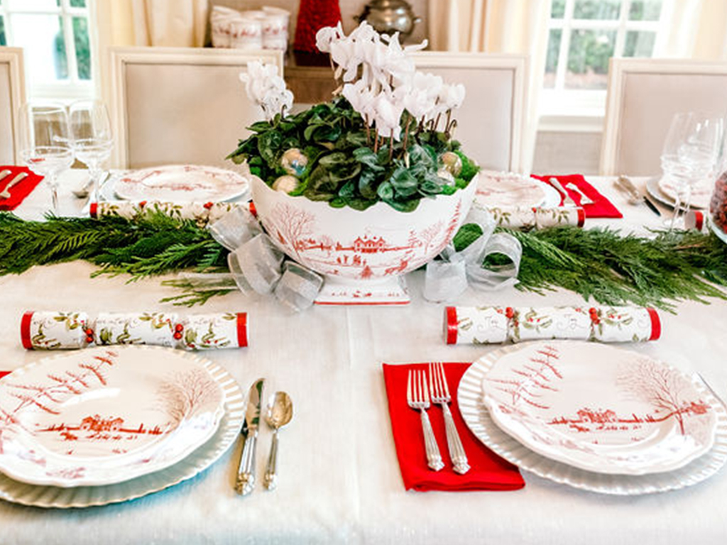 Frosty Winter Frolic Tablescape with Juliska