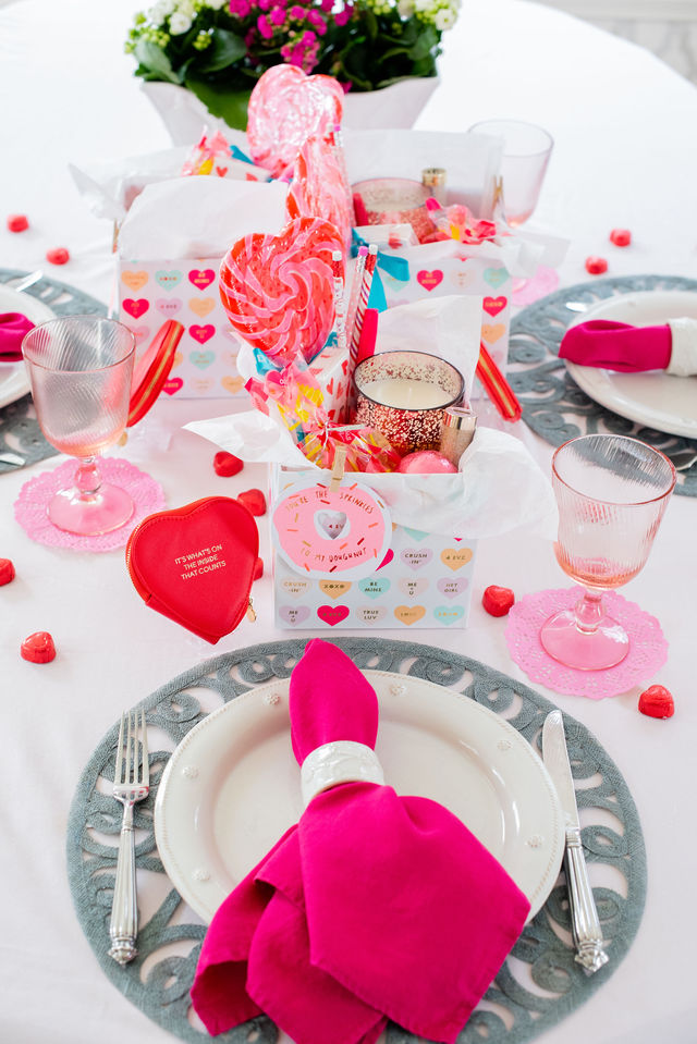 Valentine's Day Breakfast Tablescape