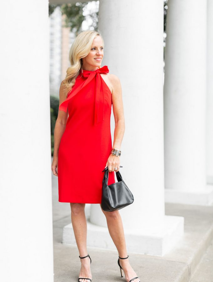 Alicia Wood, Alicia Wood Lifestyle, Dallas Blogger, Dallas Lifestyle, Expert, Cuyana Bow Bag, Red Dress with Bow