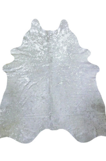 Silver Cowhide Area Rug
