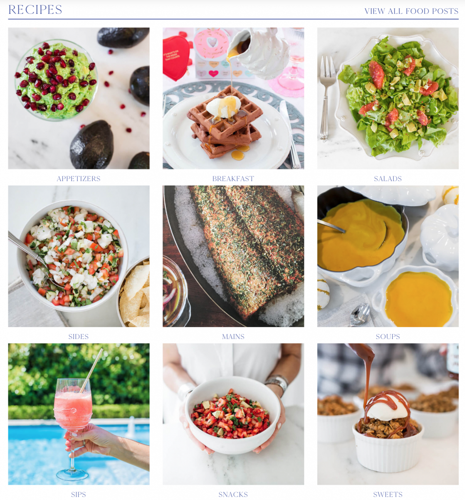 Alicia Wood Lifestyle Recipe Section