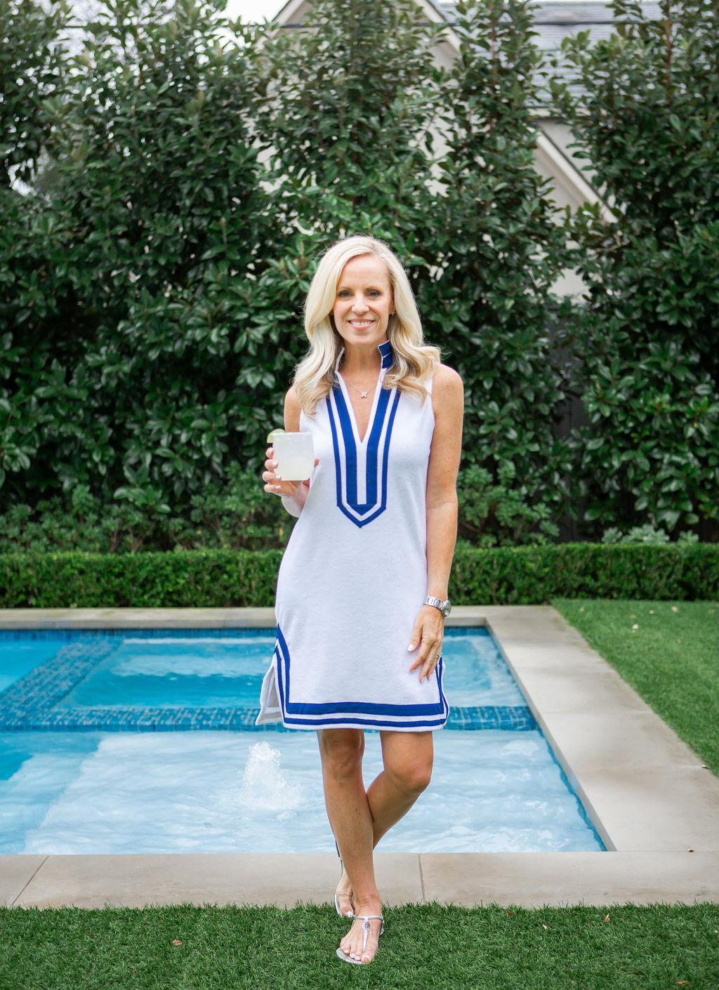 Alicia Wood, Dallas Lifestyle expert, Dallas Lifestyle Blogger, Cabana Life Sleeveless Terry Tunic Dress