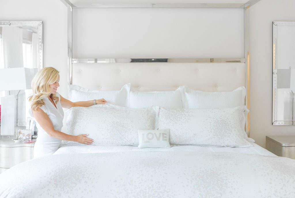 Alicia Wood, Dallas Lifestyle Expert, Luxury Bedding From Bloomingdale's, Matouk Linens