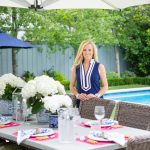 Alicia Wood, Dallas Lifestyle Expert, Dallas Fashion Blogger, Blue and White Summer Tablescape