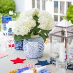 Patriotic Blue and White Table