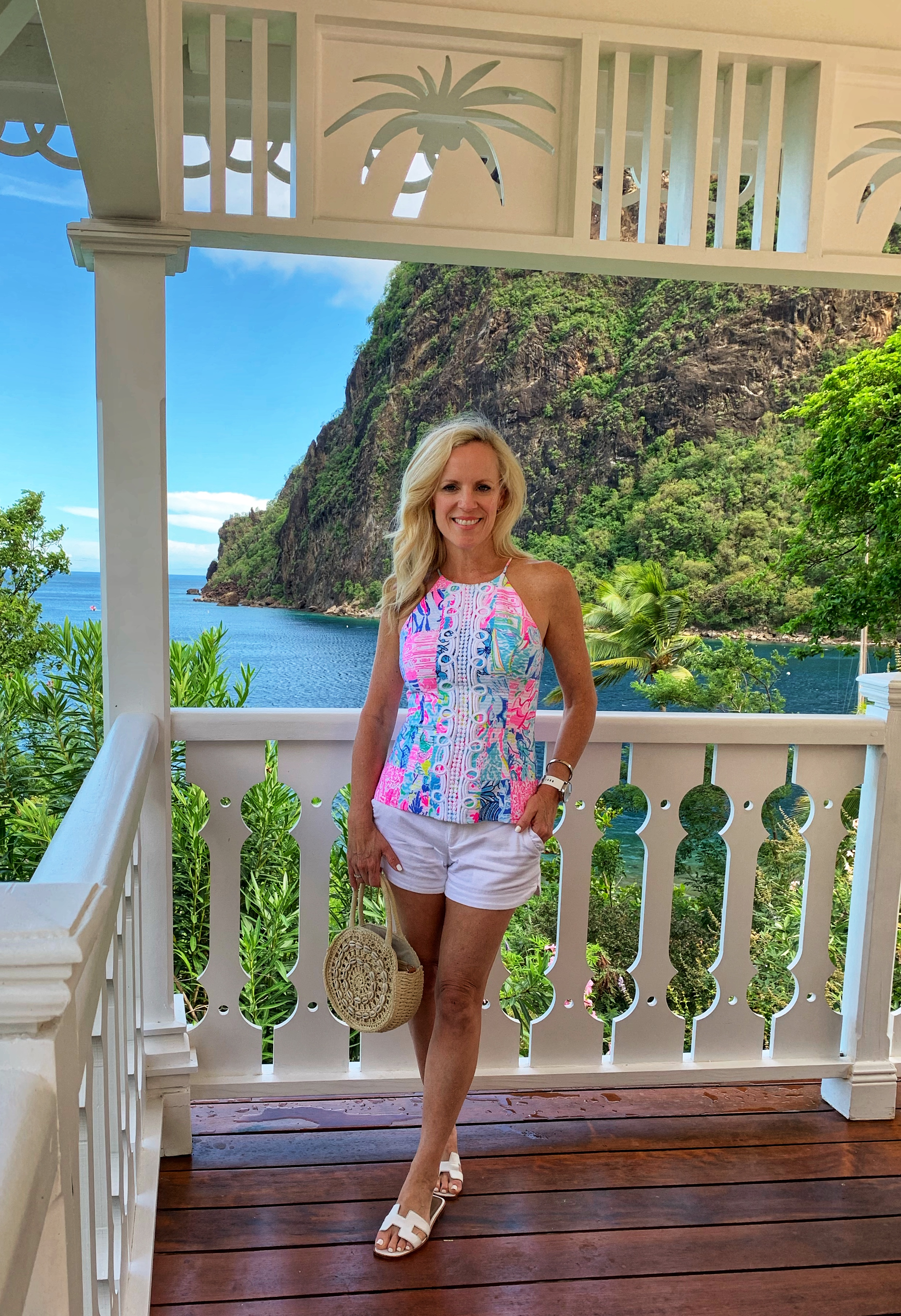 Lilly Pulitzer Patchwork Top, St. Lucia, Sugar Beach, Viceroy Sugar Beach, Alicia Wood, Dallas Travel Blogger