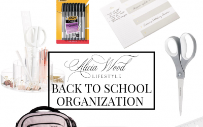 My Favorite Five: Five Quick Tips for Back To School Organization