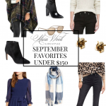 Fall Styles, Alicia Wood of AliciaWoodLifestyle.com sharing her favorite fall styles under $150