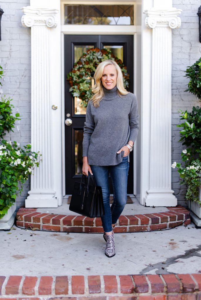 Alicia Wood, Dallas Lifestyle Expert, Dallas Fashion Blogger, Dallas Hostess, Best Cashmere sweaters, Vince Camuto Gigietta booties