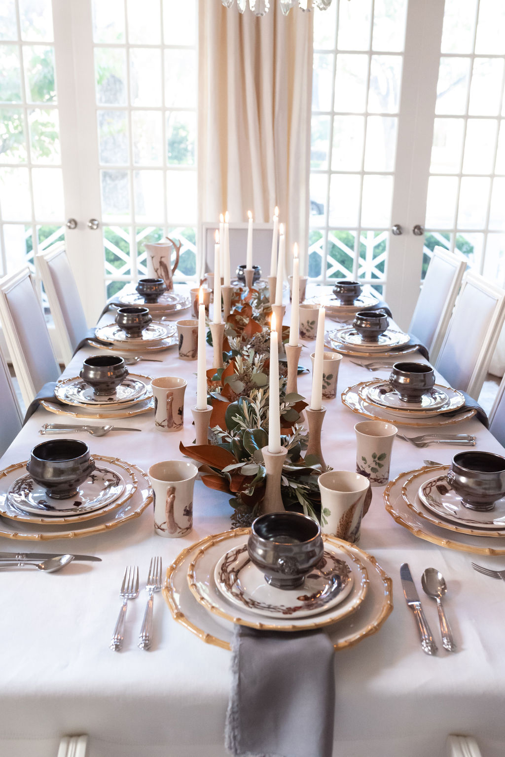 Simply Elegant Thanksgiving Tablescape