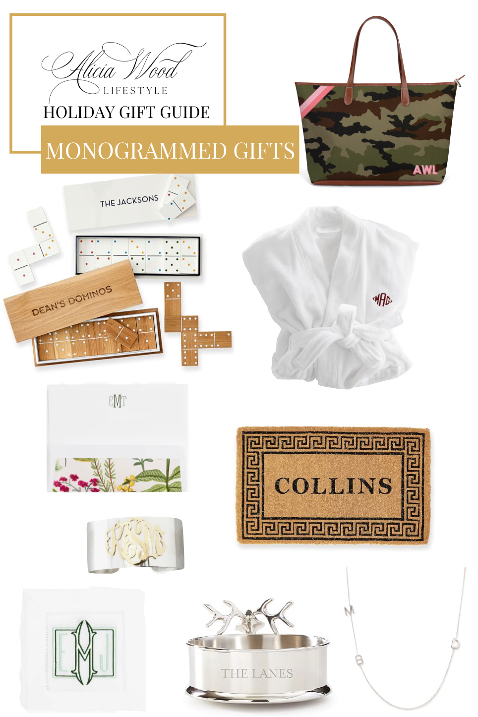 Holiday Gift Guide: Personalized and Monogrammed Gifts