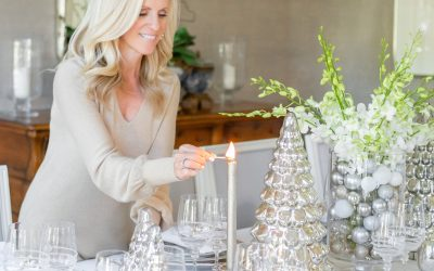 Elegant Gold and Silver Christmas Tablescape
