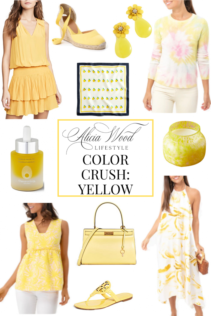 Alicia Wood of Alicia Wood Lifestyle sharing her favorites in the color of hope...yellow!