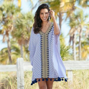 Alicia Wood Lifestyle x Cabana Life UPF 50+ Embroidered Cover Up