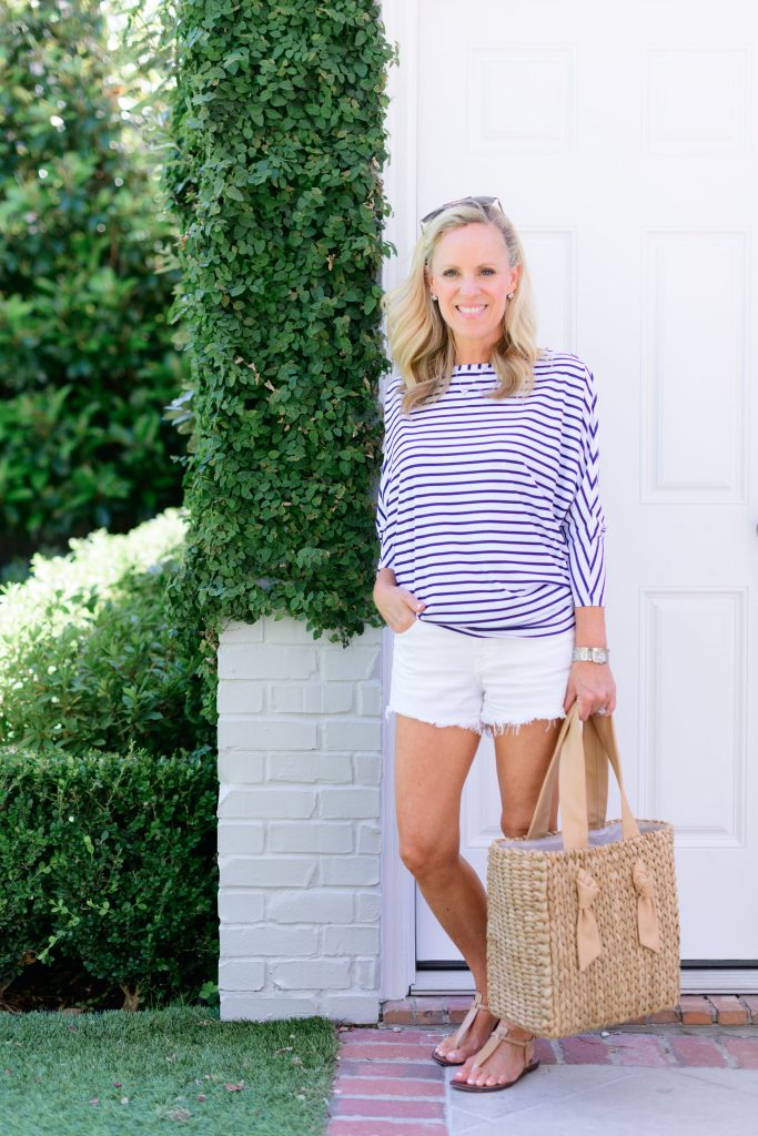 Alicia Wood Lifestyle-Color Crush: Blue & White Striped shirt