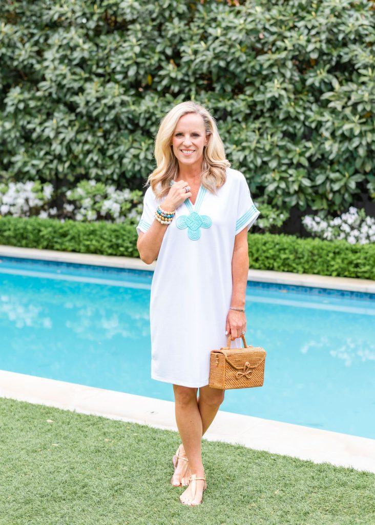 Alicia Wood x Cabana Life White Dress with Embroidery