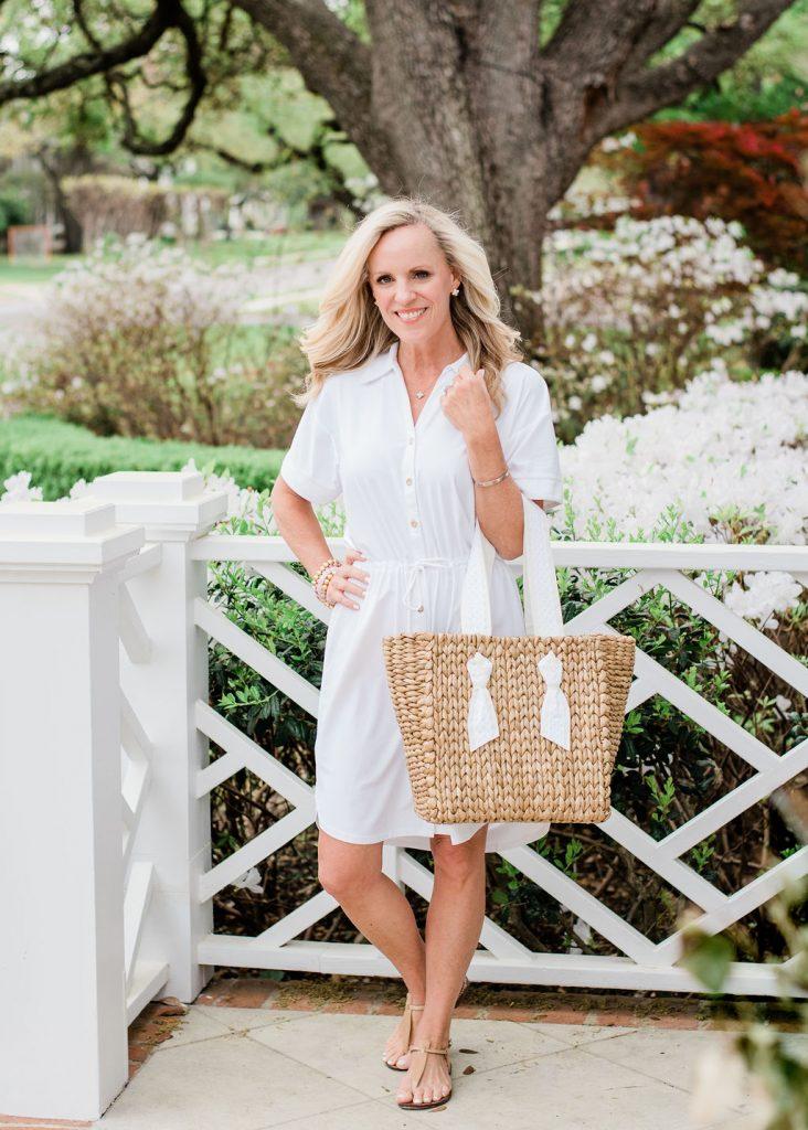 Alicia Wood x Cabana Life White Shirt Dress
