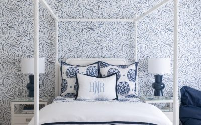 Beautiful Blue and White Teen Bedroom