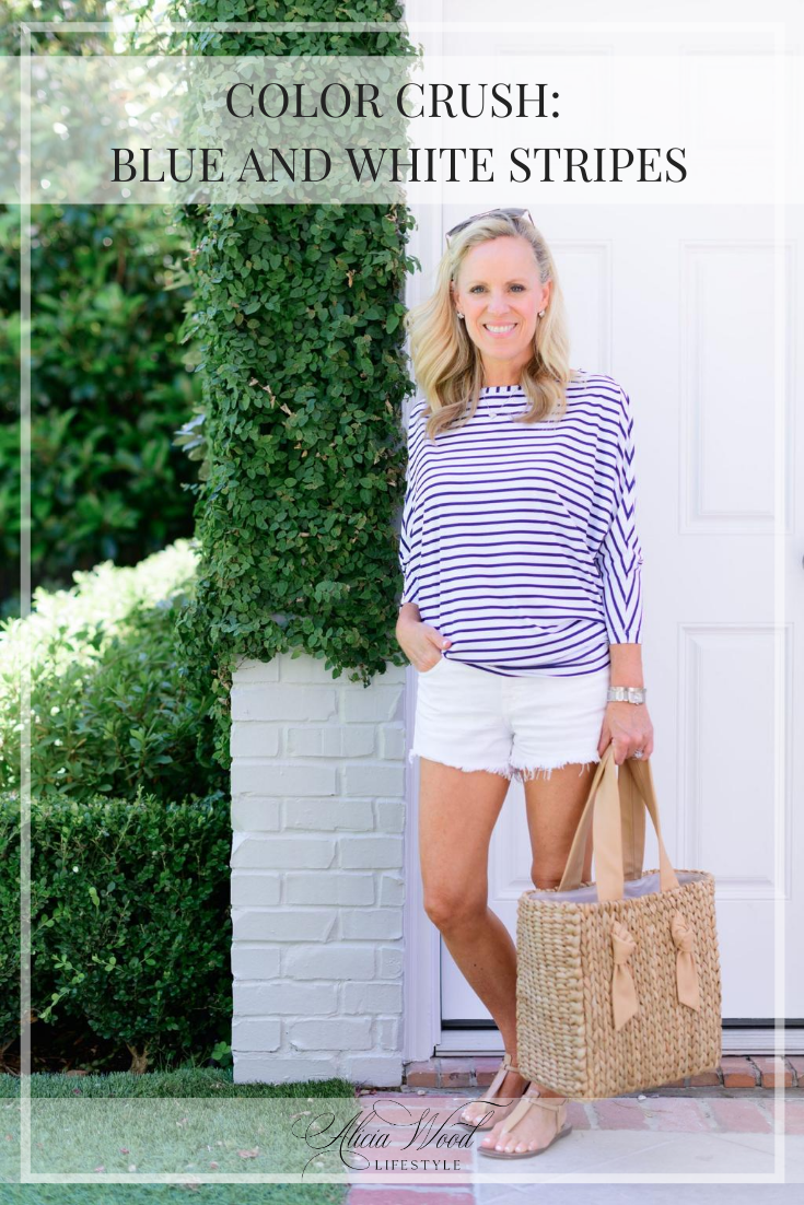 AWL-Color Crush: Blue and White Stripes