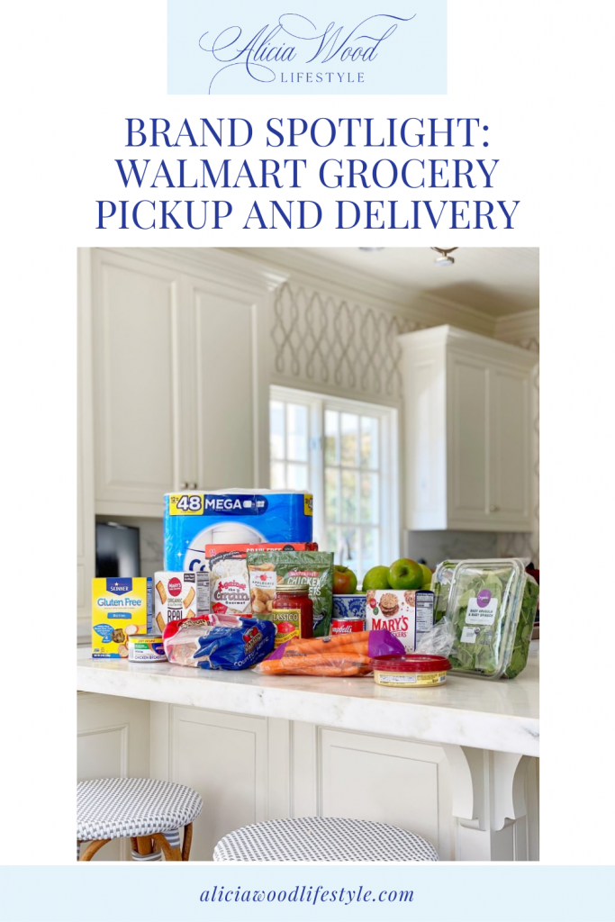 Walmart Grocery Pickup and Delivery-Groceries sitting on a counter