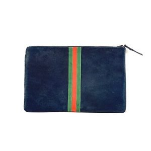 Parker and Hyde Navy Stripe Clutch