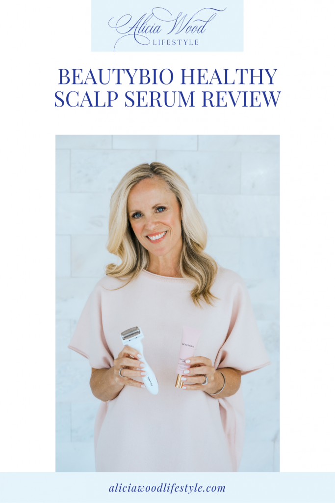 BeautyBio Healthy Scalp Serum Review and Results Pinterest Image