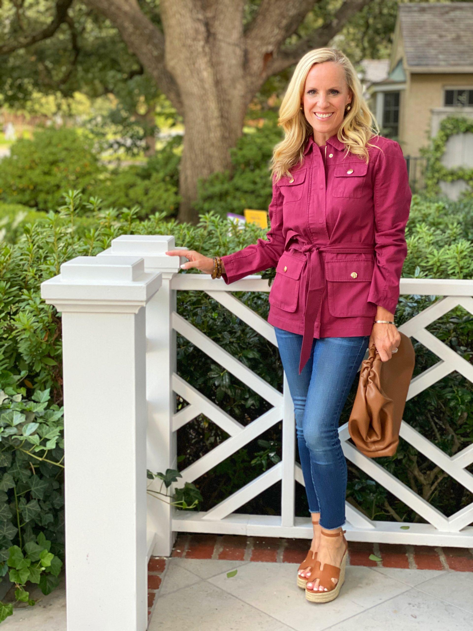 Draper James Field Jacket, Alicia Wood, Dallas lifestyle Blogger