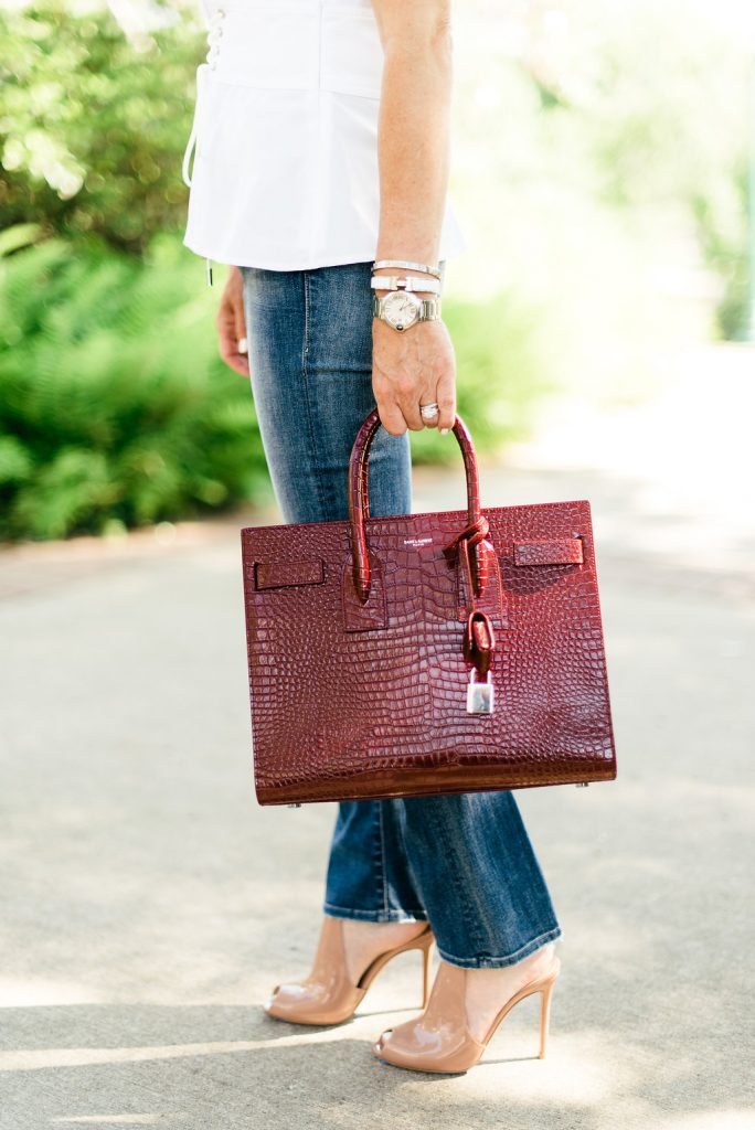 Saint Laurent Burgundy Bag-Color Crush