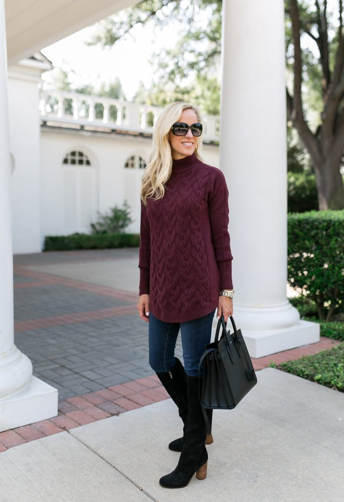 Color Crush Burgundy Sweater on Alicia Wood
